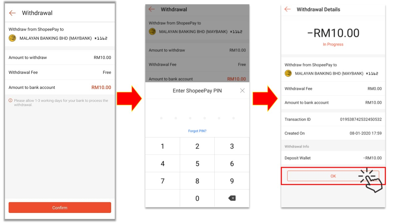 Shopeepay How To Withdraw My Shopeepay Balance To My Bank Account